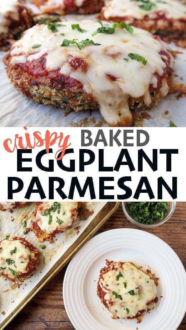 Crispy Eggplant Parmesan No Fry Sheet Pan Meal That S Deelicious Recipe In 2020 Eggplant Recipes Parmesan Crispy Eggplant Eggplant Parmesan Baked