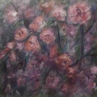 Acryl op paneel, 16 x 16