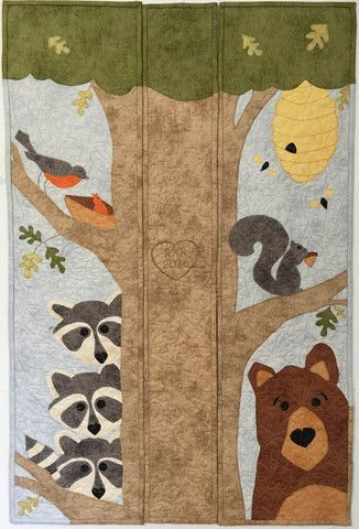 WITH A SPECIAL ADDED CENTER OF THE TREE!  Presenting our 2016 Row by Row Experience projects! | Cary Quilting Company