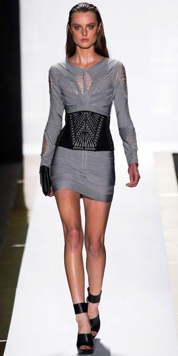Herve Leger, Leather (Pinterest)