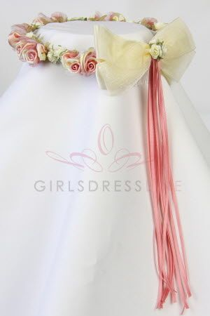 Coral Head piece for the flower girl