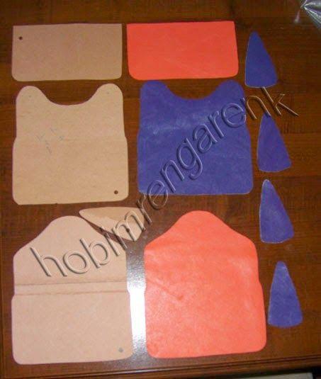 purple leather walletpattern