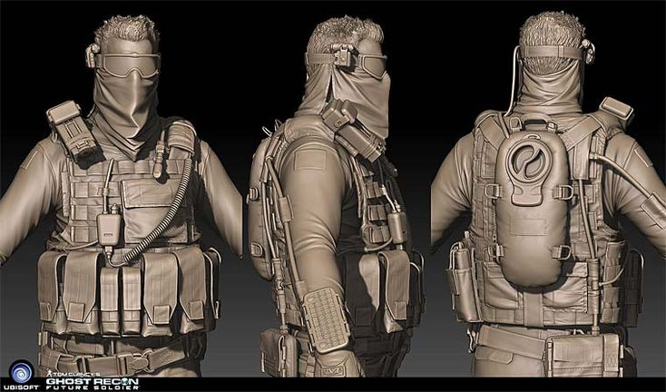 Pixologic ZBrush Gallery: Ghost Recon Future Soldier