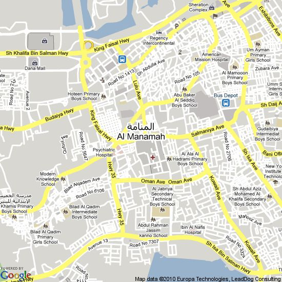 manama bahrain | Map of Manama, Bahrain