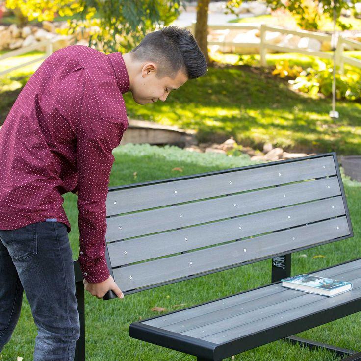 Lifetime pad átalakítható / asztal és pad szürke 141 cm