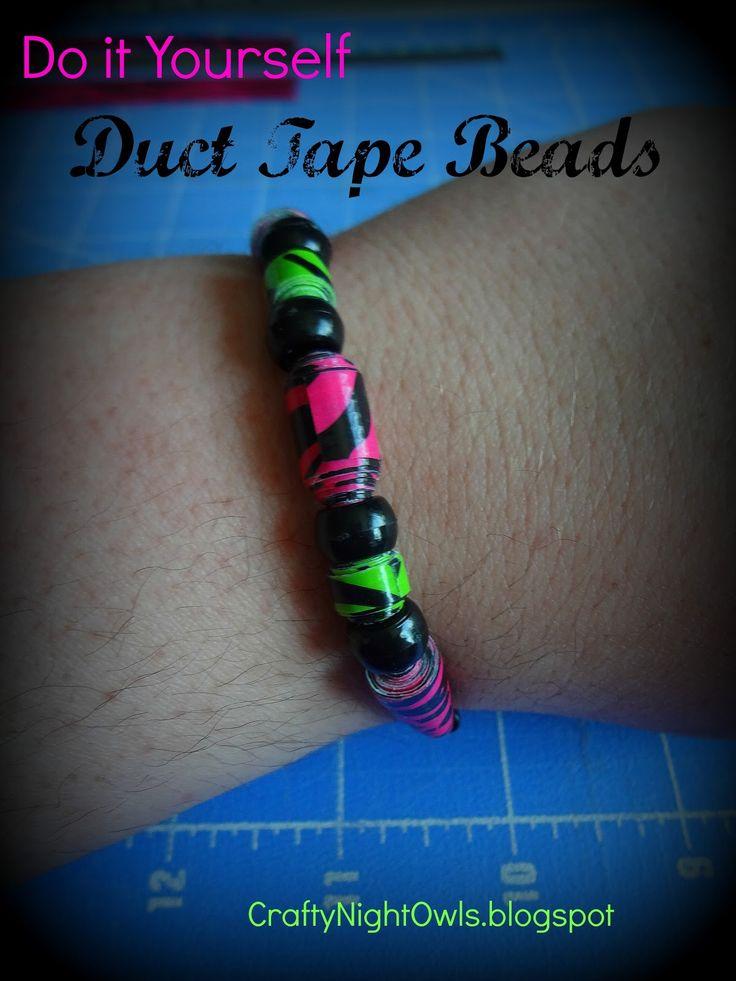 Duct Tape Bead Tutorial craftynightowls.blogspot.com
