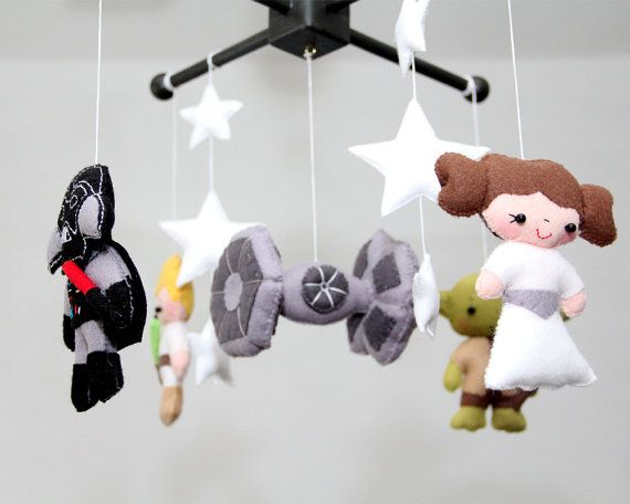 Baby Crib Mobile Star Wars Nursery By Lespees
