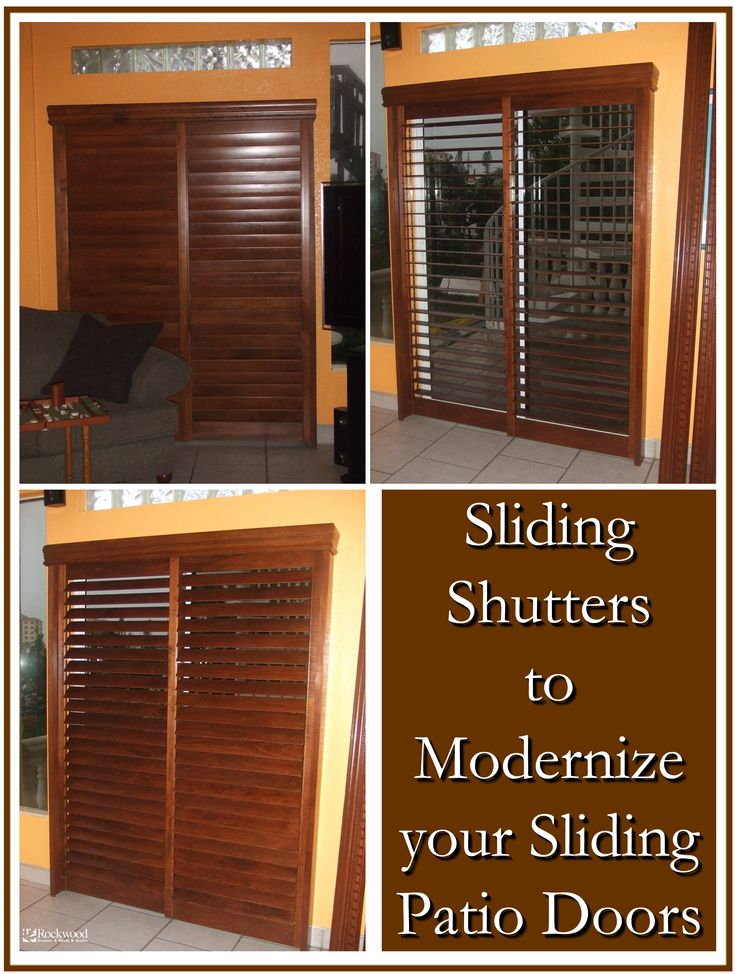 Modernize your sliding patio doors with sliding shutters @Rockwood Shutters