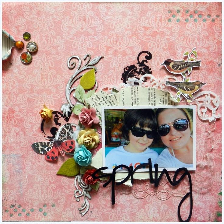 spring by Renata Moni: Feloni Scraplift, Scrap Style, Scrapbook Luv, Scrapbook Layout, Scrap Projects, Scrapbook Ideas Easter Spr