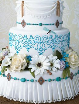 OMG! This is what I based my wedding cake off of. I will one day have to money to recreate this. :-) <3