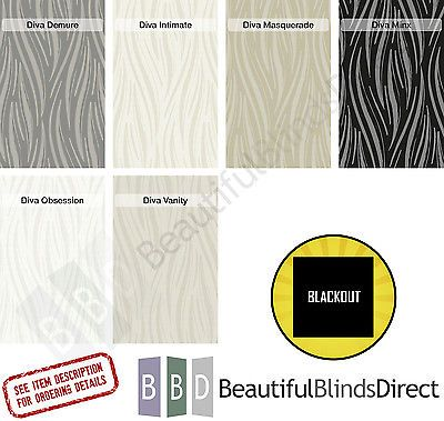 Made to measure pvc #blackout vertical #blind replacement slats #3.5'' - diva,  View more on the LINK: http://www.zeppy.io/product/gb/2/262173679955/