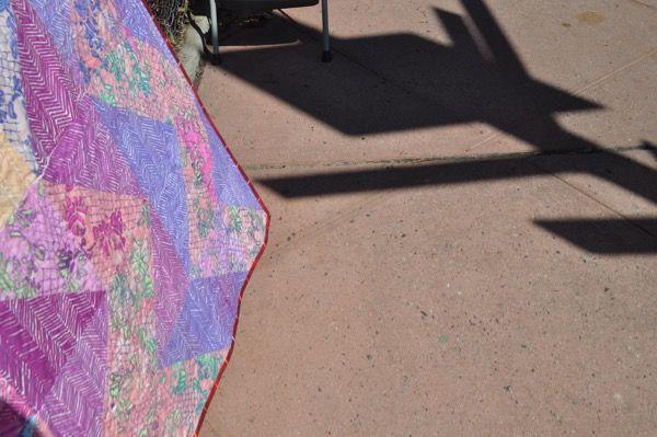 Melanie Testa —   Lace Swirl quilt complete!