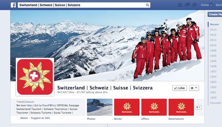 Schweiz Tourismus. Tourismus eignet sich gut für visuelle Kommunikation. Das macht Schweiz Tourismus in Facebook gut - aber auch hier in #Pinterest: @Switzerland | Schweiz | Suisse | Svizzera