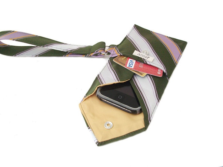 Recycled Men's Tie Wristlet