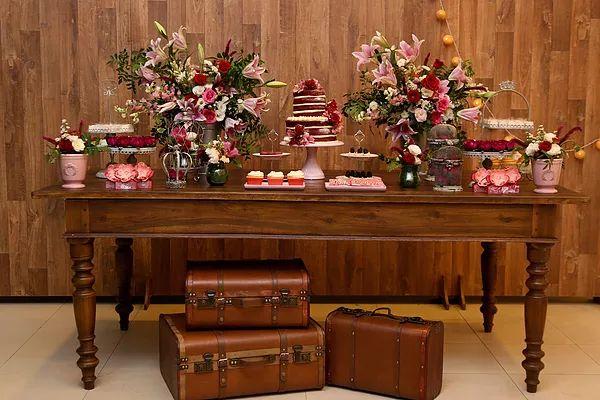 Produções NV: Marsala e rosa chá | Decoração de festa infantil em Brasília