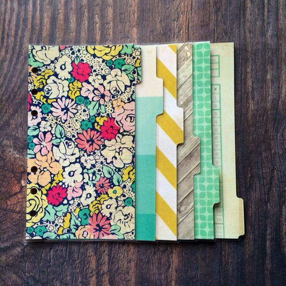 Personal filofax dividers by CharlottesWeb86 on Etsy, £8.00