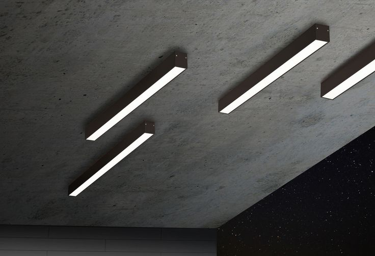 B-LINER 65 IP, Exterior Ceiling Surface Mounted light by Delta Light