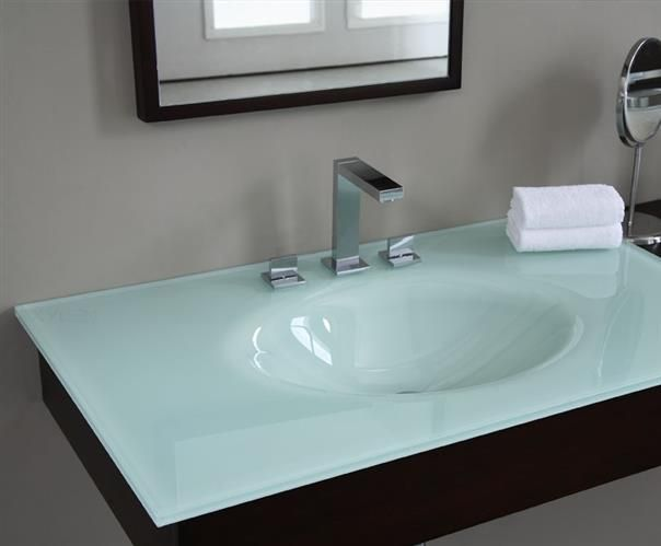 White Glass  The Latest Trends In Bathroom Sinks