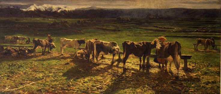 Giovanni Segantini, Alla stanga, 1886