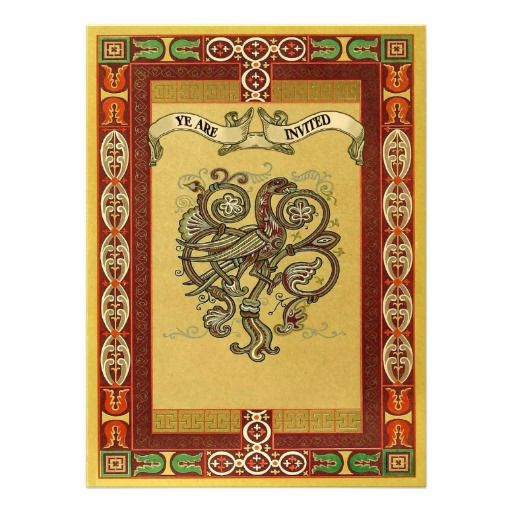 Medieval Style Celtic Patterns Wedding Invites