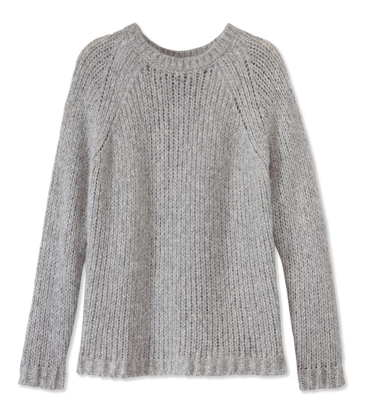 The Exclusive Maje Boutique at #ShopBAZAAR – Maje Duller Slouchy Gray Metallic Sweater