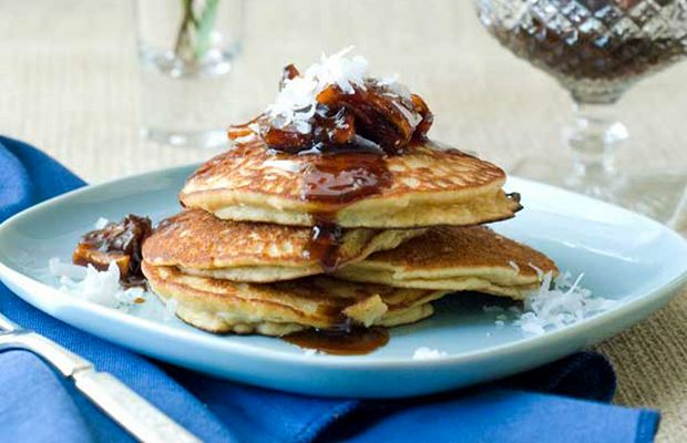 If you like pina coladas...and pancakes...well, these are for you. #paleo #pancakes