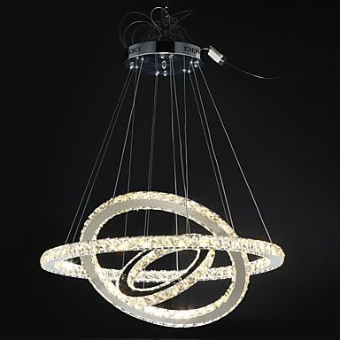 Dimmable Modern Crystal Chandeliers Indoor LED Pendant Lighting Ring Lighting 67W with Remote Control 5698009 2017 – £182.41