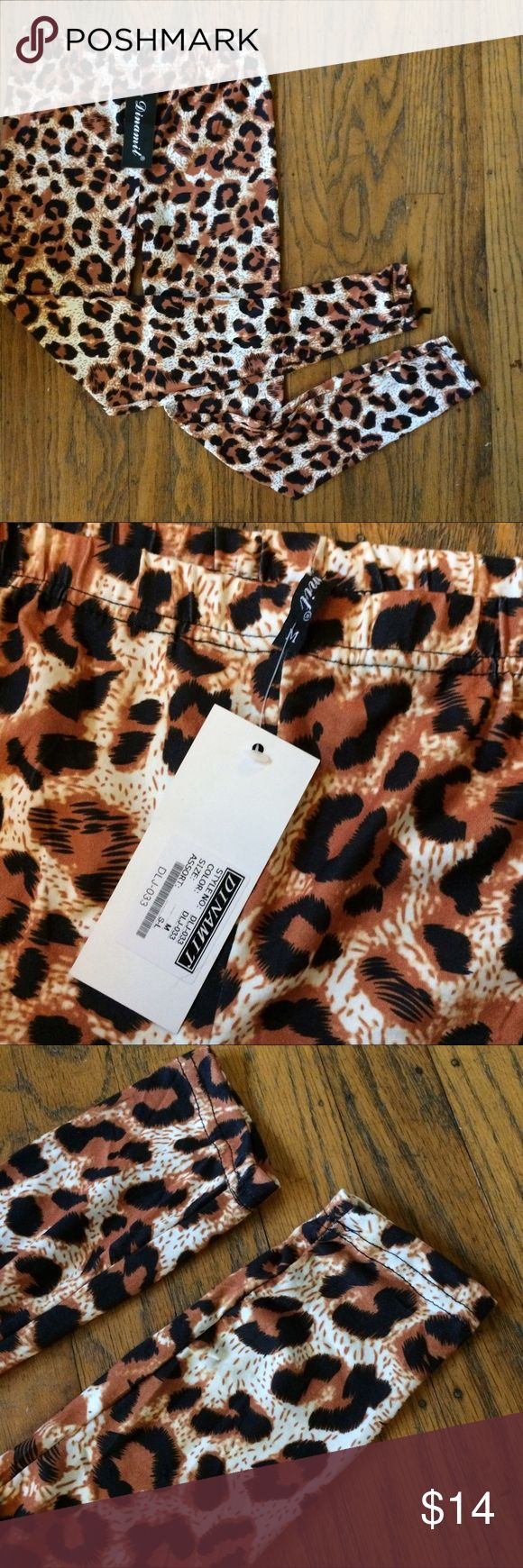 NWT Dinamit Cheetah Leggings Great leggings, soft and NWT. Not Charlotte Russe, listed for exposure. Make an offer! Charlotte Russe Pants Leggings