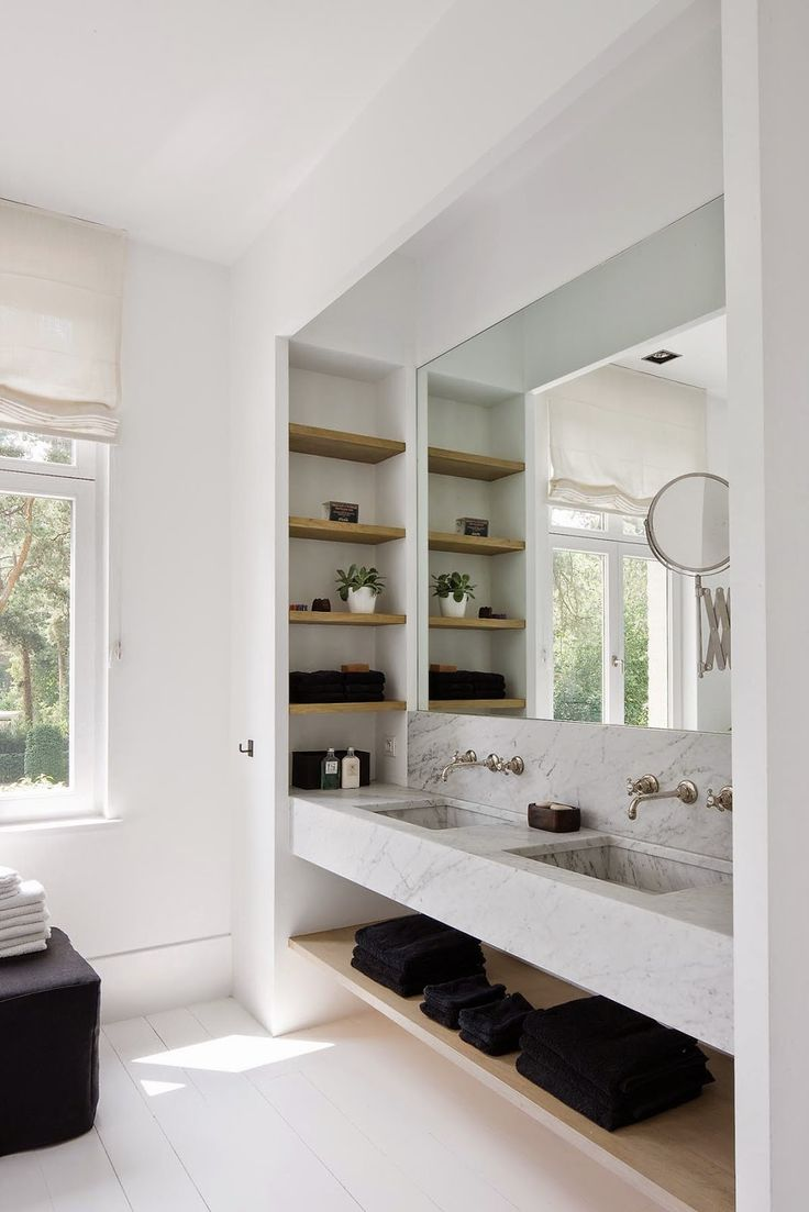 sink Home white double Shelves Tours  Shelving   athletic and and   shoes shelving    Bathrooms Built asics In marble