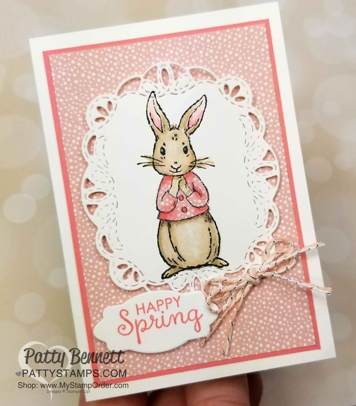 Fable Friends Ostern Und Fruhling Karte Ideen Patty Briefmarken Fable Friends Fruhling Ideen Karte Stampin Up Easter Cards Spring Cards Cards Handmade