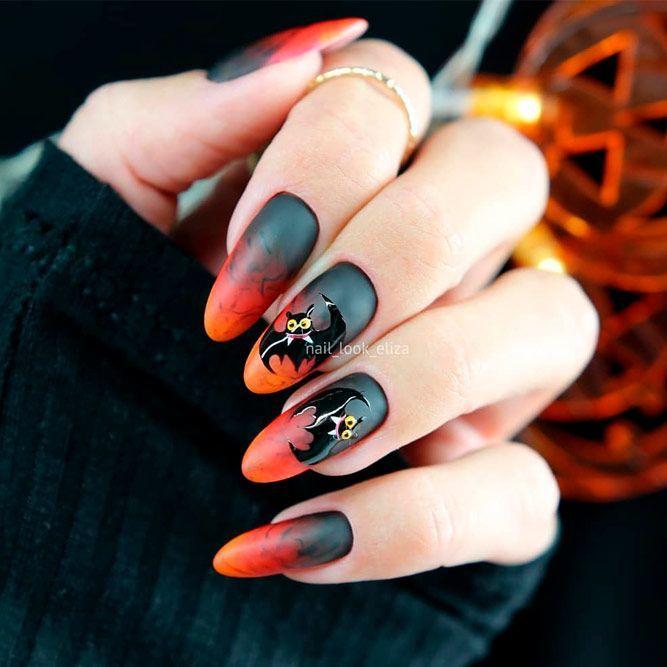 41 Cute And Creepy Halloween Nail Designs 2020 Halloween Nail Designs Halloween Nails Nail Designs