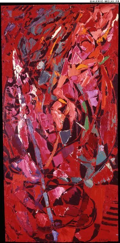 Atrocité des rouges Artist: Andre Lanskoy Completion Date: 1959 Style: Tachisme Genre: abstract