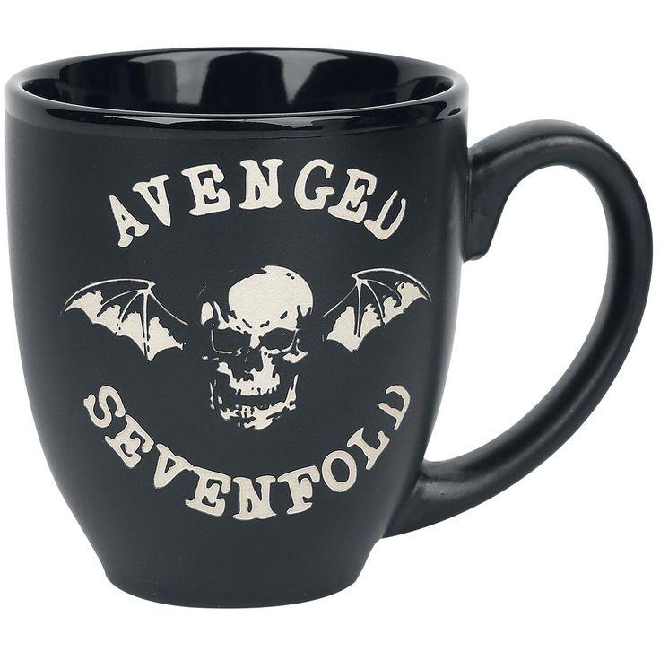 "Tazza in ceramica nera ""Bat Logo"" degli #AvengedSevenfold."