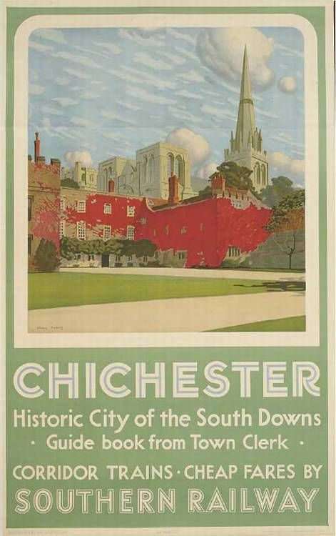 Chichester - Historic city of the South Downs - 1937 - (Charles Pears) -