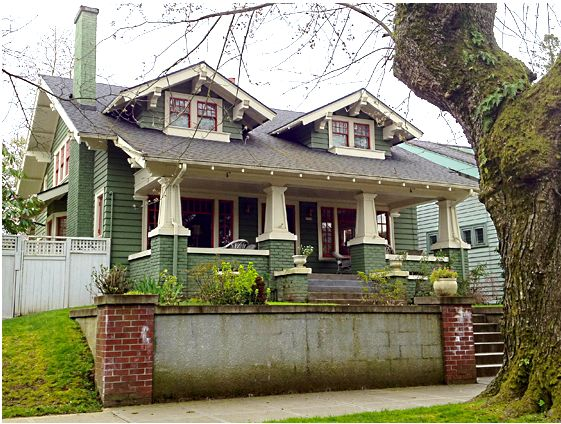 1462 best images about bungalows arts and crafts period for Portland craftsman homes