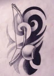 Resultado de imagem para berimbau tribal tattoo