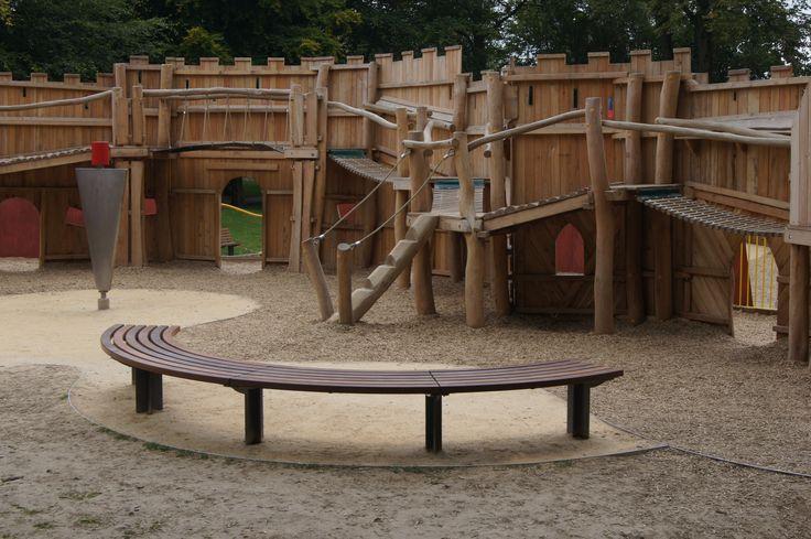 Mardyke Playground, Cork  HC2026 Curved Bench