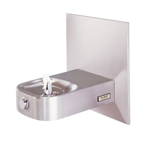elkay child ada wall mount single level slimline fountain with vr bubbler wall plate