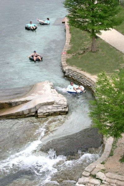 Tubing on the Guadalupe River, New Braunfels, Texas
