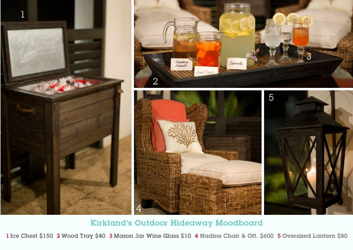 Pin this image at MyKirklands.com for a chance to win a weekly prize pack!: Outdoor Furniture, Chairs, Summer Parties, Icechest, Outdoor Parties, Back Porches, Backyard, Outdoor Spaces, Modern Outdoor