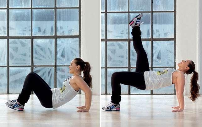 Få Anne Bechs 6 træningsøvelser, der styrker din mave, ryg, baller og lår og giver dig en stærk og harmonisk krop.