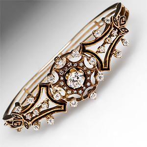 Antique Victorian Diamond Bangle