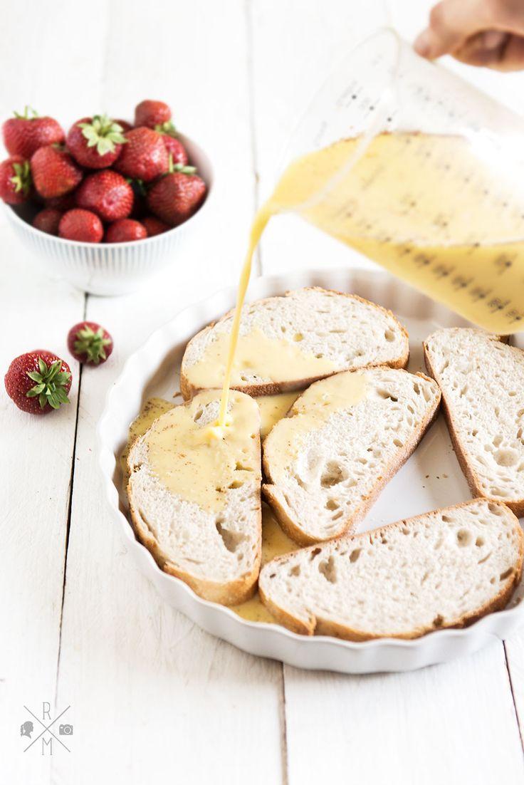 French Toast nach Martha Stewart mit frischen Erdbeeren | relleomein.de #frenchtoast #thermomix #rezept #frühstück