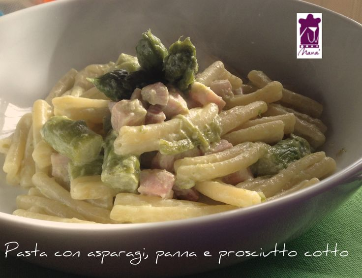 Pasta+con+asparagi,+panna+e+prosciutto+cotto