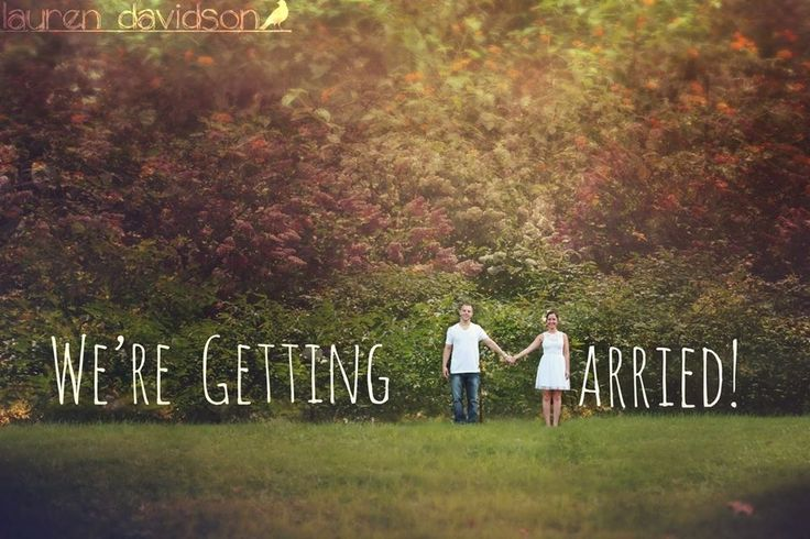Engagement photos, wedding announcements, save the dates