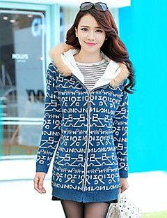 Милдред женщин корейский тонкий утолщение плюс бархат теплый свитер пальто