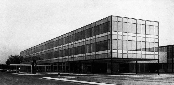 Eero Saarinen, Styling Building, General Motors Technical Center, Warren, Michigan, 1952