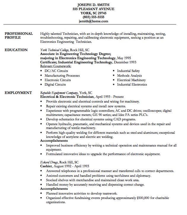 Best 25+ Cashiers resume ideas on Pinterest Artist resume - electronic engineer resume sample