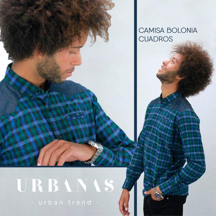 ⬇¡Camisa irresistible la que os traemos hoy, Urbanos!⬇ ✅☑ | Camisa Bolonia cuadros color azul/verde botella | ✅☑ ¡Ven a por la tuya a Avenida Duque de Abrantes, nº15 (#Jerez)! ;) 🚨TE GUSTA 🚨COMENTA 🚨COMPARTE #Hombre #urban #regalo #reyesmagos #jerez #rebajas #ropa #ForMen