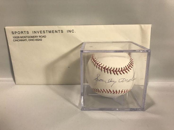 SPARKY ANDERSON Signed COA American League OAL Baseball Autograph